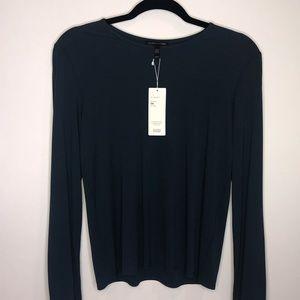 Eileen Fisher Silk Tee Size Medium Blue
